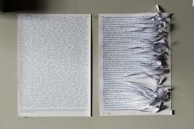 Yeb Wiersma, A song adrift (2012) tijdens Mapping Flevoland. © Jordi Huisman, Museum De Paviljoens