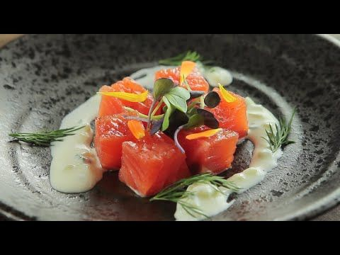 Salmon marinado casero con salsa tzatziki #2 Video receta de Rojono studio - YouTube