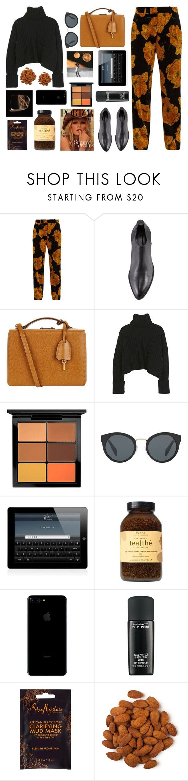 """""""Pompeii- Bastille"""" by tacoxcat ❤ liked on Polyvore featuring Gucci, Alexander Wang, Mark Cross, MAC Cosmetics, Prada and Aveda"""
