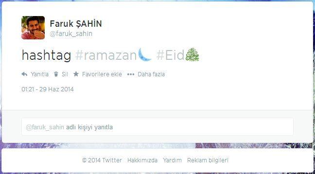 Ramazan'a Özel Hashtag İkonları - Faruk ŞAHİN