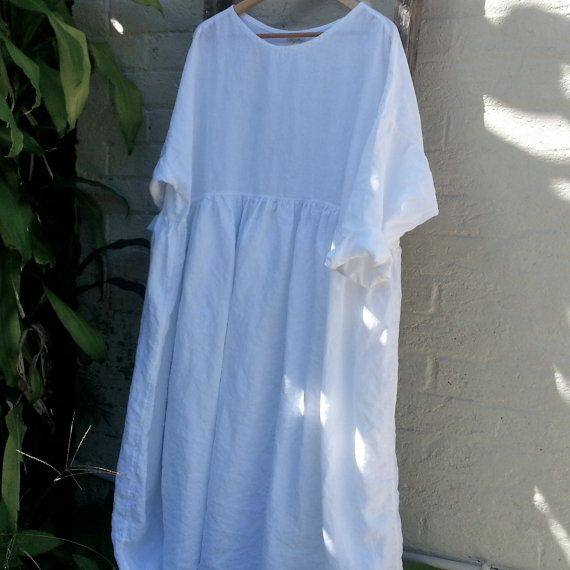 Oversized Long Linen Dress by MegbyDesign on Etsy, $320.00