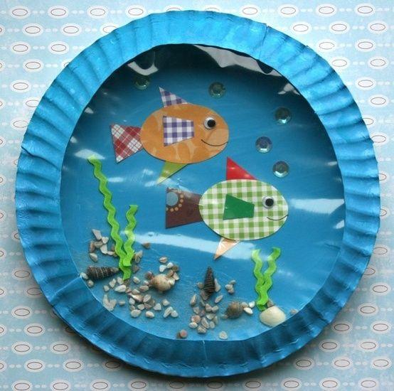ocean scene bulletin boards | Cómo hacer un pecera con materiales reciclados . Bonita pecera hecha ...