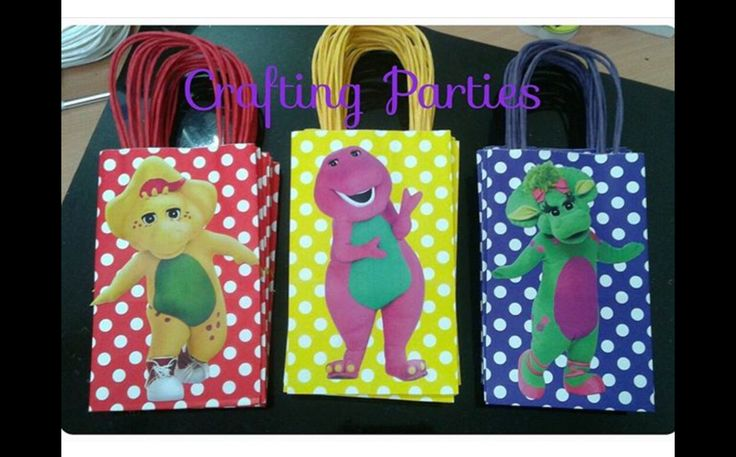 Barney and Friends favor/treat bags.