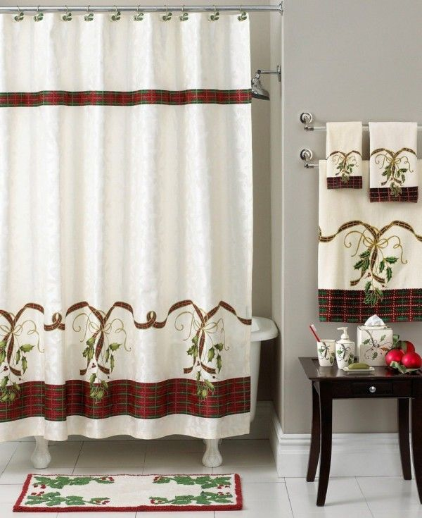2013 Luxury Christmas Shower Curtain Set. Top 9 Ways To Decorate Your  Bathroom. See