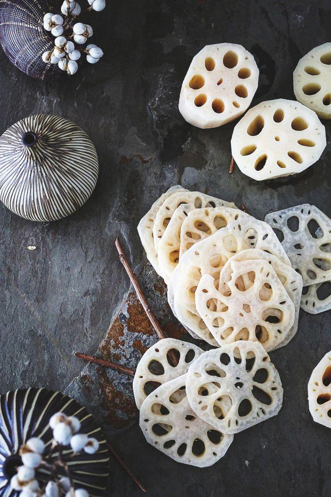 ... lotus root chips ...