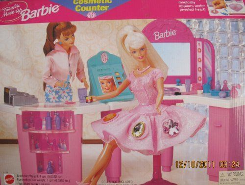 Twirlin make up barbie cosmetic counter playset w cosmetic counter