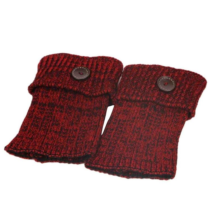 Muxika Women Retro Button Crochet Knitted Stocking Leg Warmer Trim Socks ** Additional details at the pin image, click it  : Fashion for Christmas