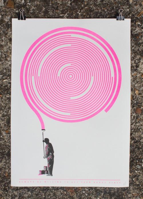 'Analog vs Digital' poster by John C. Thurbin. #graphic #design #poster