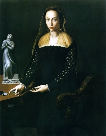 Giulia de' Medici, (ca.1535-ca. 1588) Daughter of Alessandro de Medici and Taddea Malaspina. By Alessandro Allori, 1559