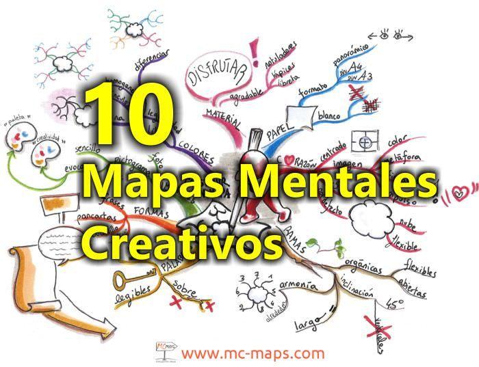 10 Mapas mentales creativos, conócelos en nuestro nuevo artículo aquí: http://tugimnasiacerebral.com/mapas-conceptuales-y-mentales/ejemplos-de-mapas-mentales-creativos inspírate y conoce hasta dónde pueden llegar tus mapas mentales con un poco de creatividad #ejemplos #mapas #mentales