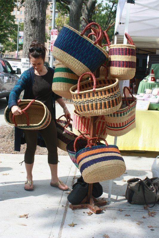 I love these kinds of baskets but don't have one yet. I've seen them at summer festivals. Would be great for carrying vegetables from the garden, storing throw blankets, yarn, washcloths, items for a day trip in the car...use your imagination!