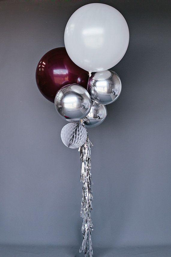 Balloon Set: Burgundy por helloPOPshop en Etsy