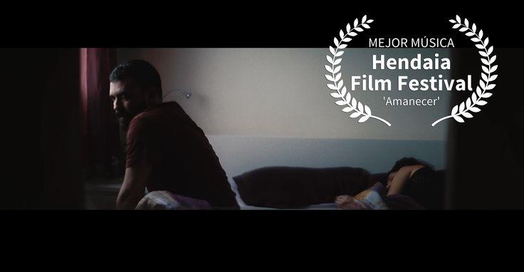 Jonay Armas gana el premio a la mejor música original por su trabajo en 'Amanecer', cortometraje de Daniel León Lacave, en el Hendaia Film Festival. ¡Felicidades! #CanariasenCorto2017