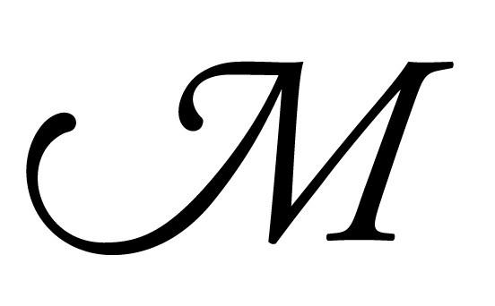 """Adobe Garamond Pro Italic """"M"""" (swash)"""