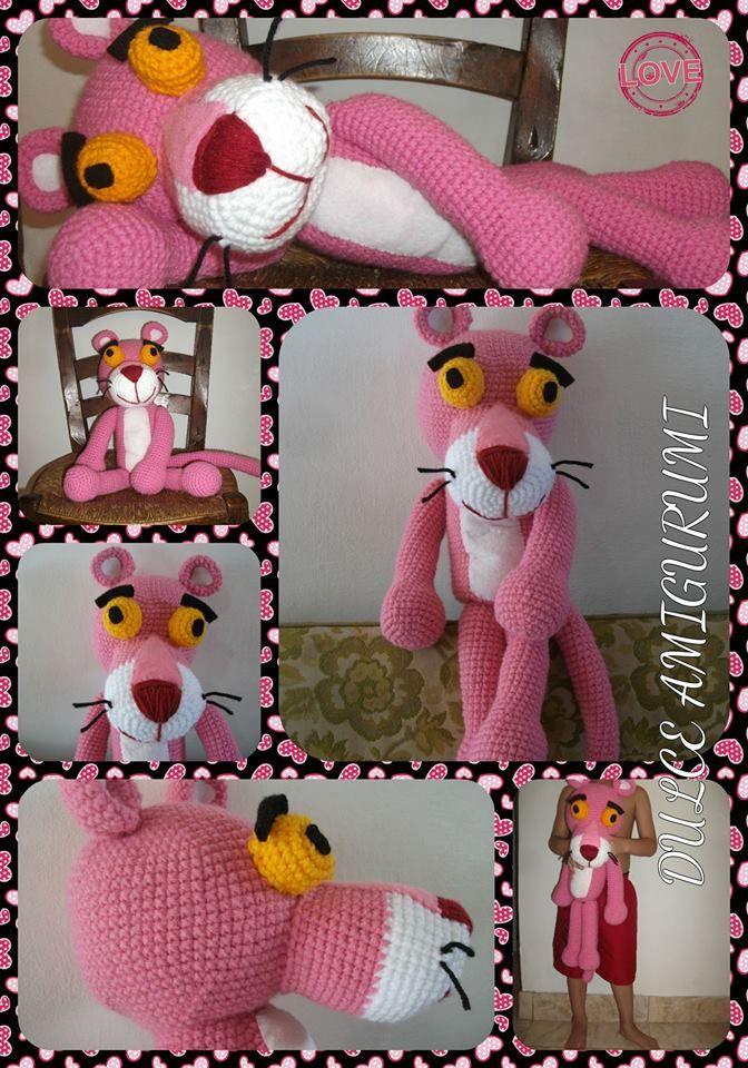 La Pantera Rosa de Dulce Amigurumi