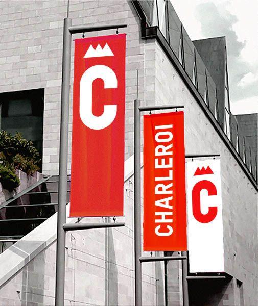 Le logo roi de Charleroi