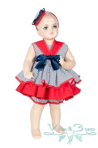 Vilma & Bosco ~ Colección Primavera Verano 2014 | #Vestido de bebé- Familia #Marina | #Moda #infantil, diseños para bebés, niños y niñas hasta los 10 años | #celebraciones
