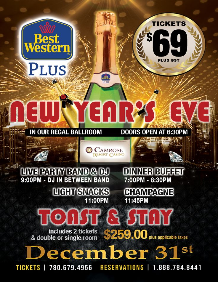Enjoy the opulence of ringing in the New Year with us!