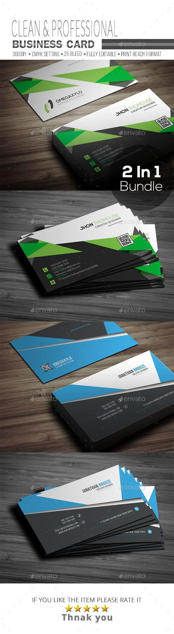 Business Card Bundle 2 In 1 Buy Business Cards Business Cards Corporate Business Card