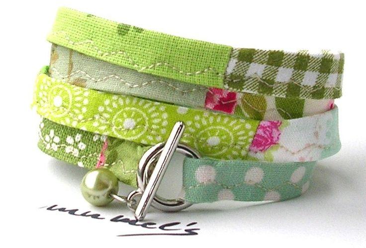 Bracelet en tissu  de mumel`s sur DaWanda.com