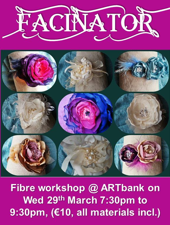 Easy to make fabric flower fascinators!