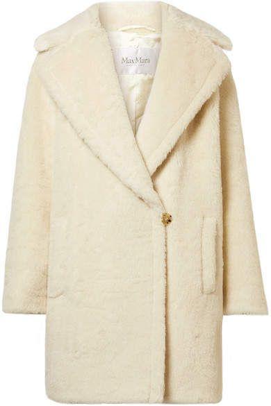 4a6f55a26f55 Max Mara Robinia Alpaca, Wool And Silk-blend Coat - Ivory | Products ...