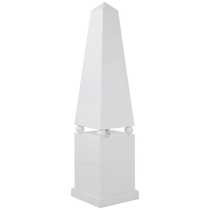 Worlds Away Apollo Large Lacquer Obelisk