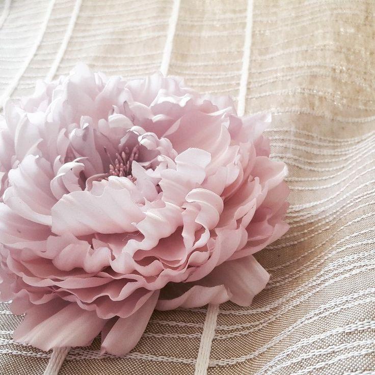 Blush Pink Peony Headpiece