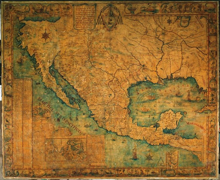 "Ramirez Nuevo mapa 1767  "" Antique maps of Mexico from Traveling from New Spain to Mexico: Mapping Practices of Nineteenth-Century Mexico by Magali M. Carrera (Duke University Press, 2010). """