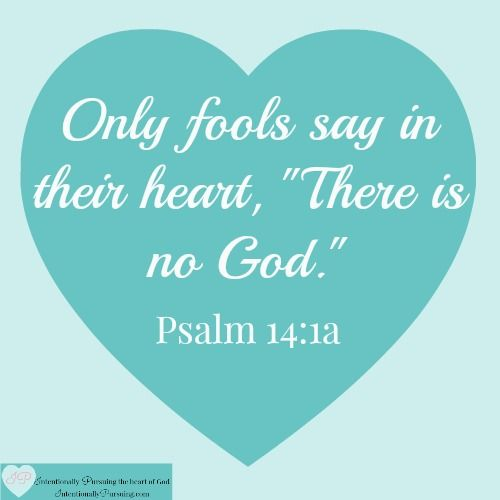 Psalm 14:1 - Only Fools Say - IntentionallyPursuing.com