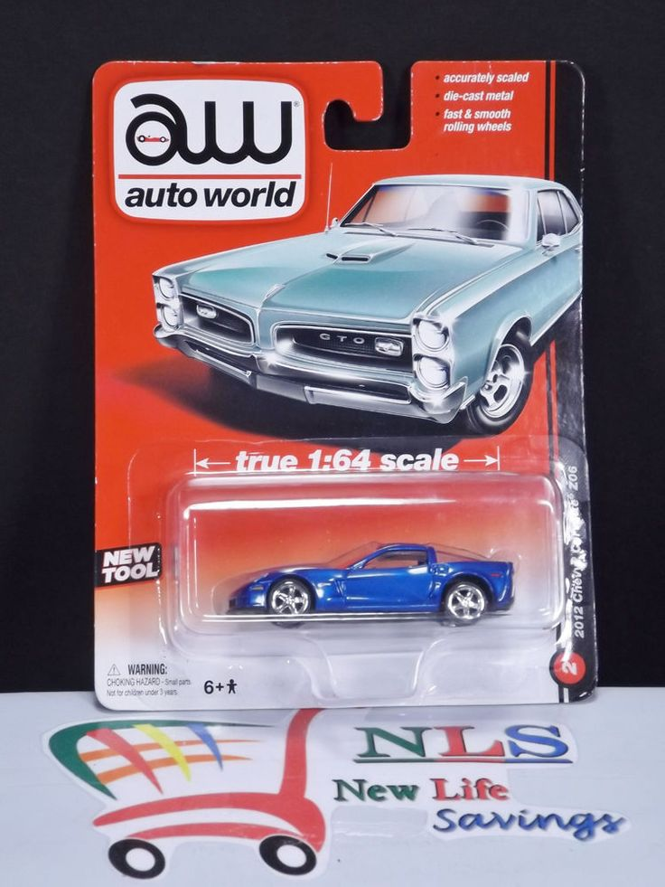 2013 AW 2012 Checy Corvette Z06 Blue 1:64 auto world by General Motors #autoworld
