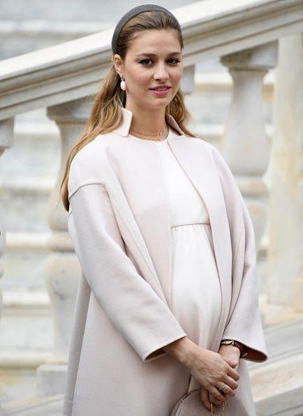 Pregnant Beatrice Borromeo attending Monaco Natiol Day 2016