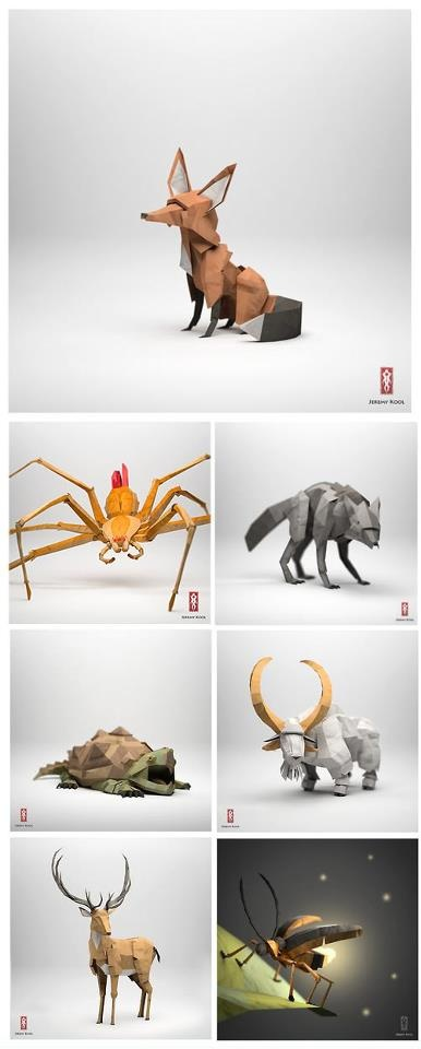 Origami animals by Jeremy Kool