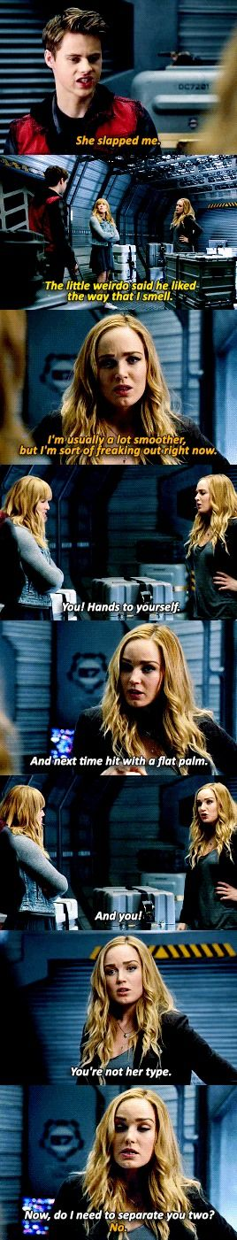 """Do I need to separate you two?"" - Young Mick, Young Sara and Sara #LegendsOfTomorrow"
