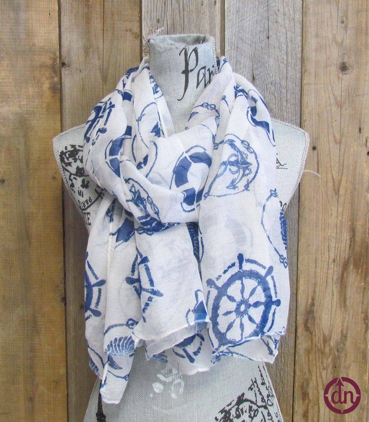 Blue Anchor Scarf-Discounted dunorthdesigns.com/darling/thebowhousegirls/