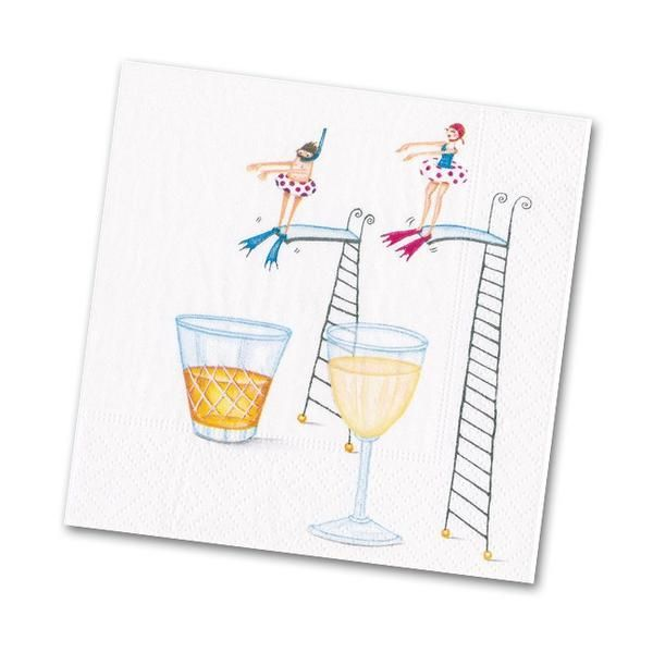 Caspari Happy Hour Paper Cocktail Napkins 20 Per Package
