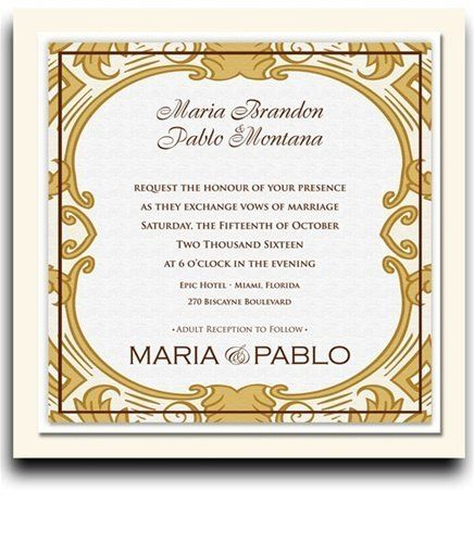 210 Square Wedding Invitations - Grand Imperial by WeddingPaperMasters.com. $546.00. Now you can have it all! We have created, at incredible prices & outstanding quality, more than 300 gorgeous collections consisting of over 6000 beautiful pieces that are perfectly coordinated together to capture your vision without compromise. No more mixing and matching or having to compromise your look. We can provide you with one piece or an entire collection in a one stop shopping ...