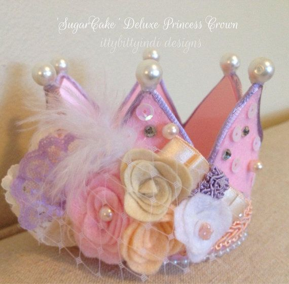 SugarCake Deluxe princess crown party hat by EverTheDream on Etsy