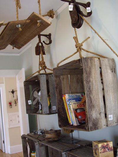 I think I will take some old crates I have & use them for my son's western room decor on the walls.  Put his horseback riding stuff in them.