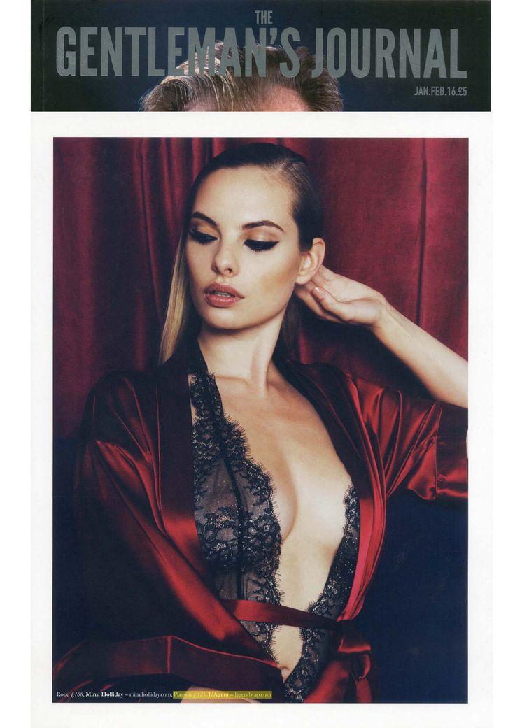 #Fashion #Editorial Idalia playsuit in The Gentlemen's Journal for Valentines!