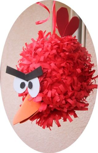 Anniversaire à thème Angry Birds pinata