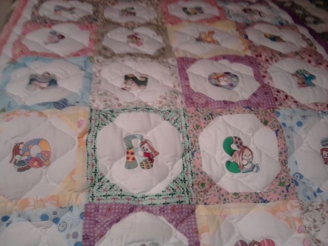 Alphabet quilt made for Little Erika in New Zealand 2010