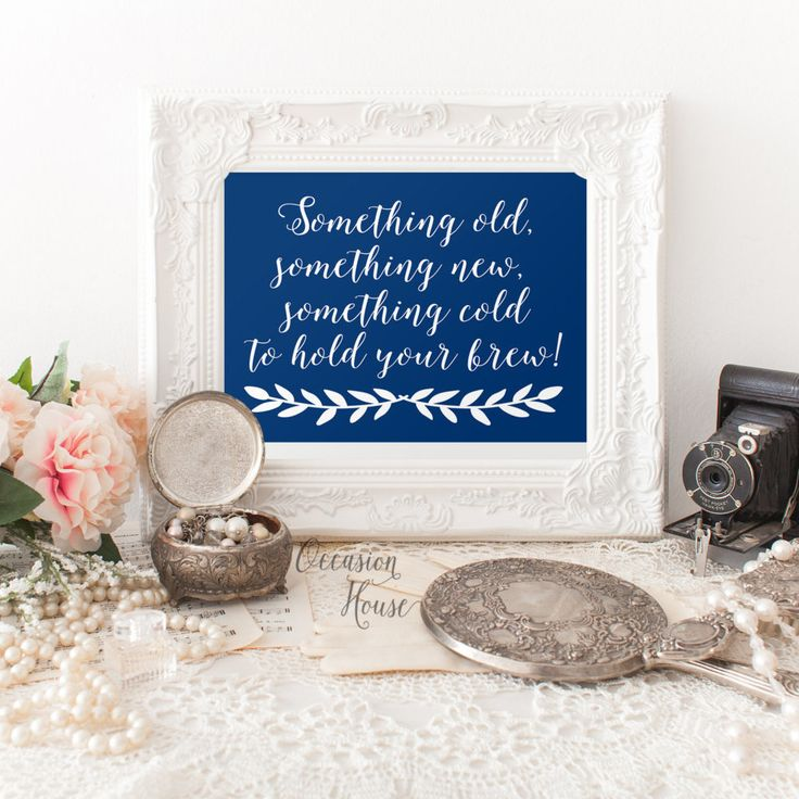 wedding photo booth props printable%0A Printable wedding signs  Navy Blue Cards and gifts signs  blue wedding u