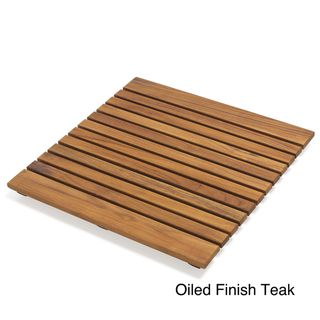 @Overstock.com - Add elegant styling to your spa or outdoor area with this teak wood mat  Wooden mat is perfect for the bathroom, shower or sauna   Floor mat is made of beautiful and durable teak woodhttp://www.overstock.com/Bedding-Bath/Le-Spa-19.7-Teak-Bath-Mat/4356098/product.html?CID=214117 $49.99