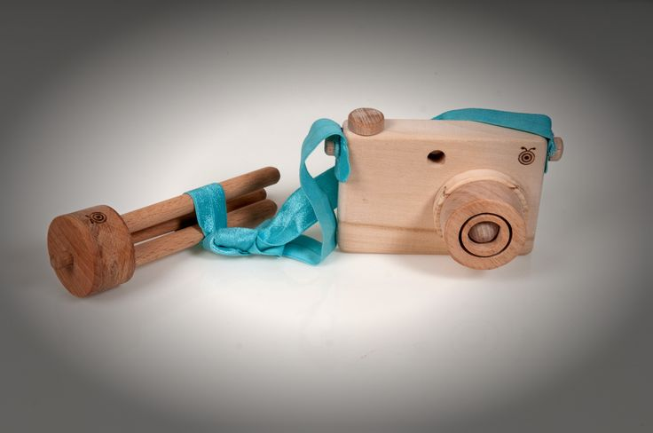 wooden camera and tripod