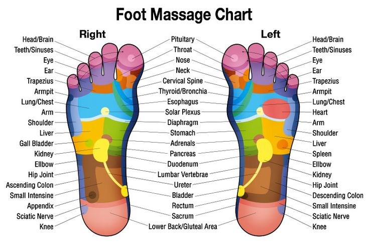 High Resolution Free Downloadable Foot Massage Chart for Relaxation and Self…