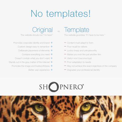 Říkáme NE šablonám! Sepsali jsme pro vás několik důvodu, proč šablony nejsou správnou volbou. Myslete na to, že jaký webdesign, taková firma. :-)  https://www.shopnero.cz