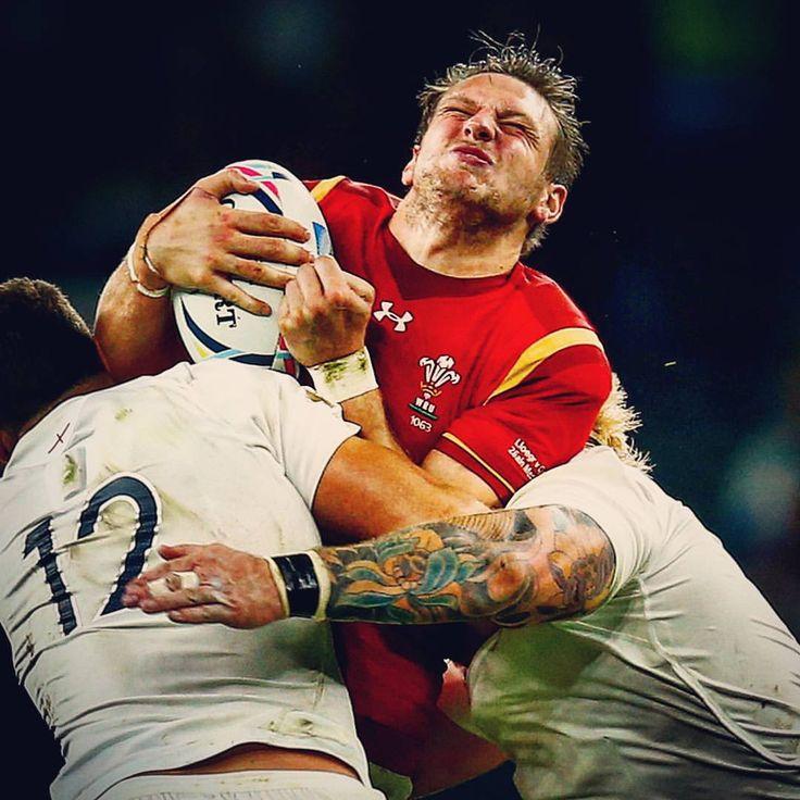 "World Rugby on Instagram: ""DOUBLE TEAMED Ooooooof!! Wales' Rhys Priestland feels the full force of running into Sam Burgess and Joe Marler at Twickenham #ENGvWAL #rwc #rwc2015 #rugby #rugbyworldcup #England #Wales #twickenham #tackle"""