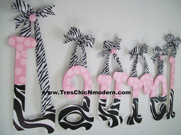 wooden nursery letter wood letter wall hanging KIDS wall decor monogram baby shower gift cheetah zebra JUNGLE JILL. $15.00, via Etsy.