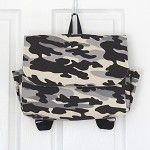 Grey Camouflage Postman Satchel Style Backpack - by OneBusySloth on madeit